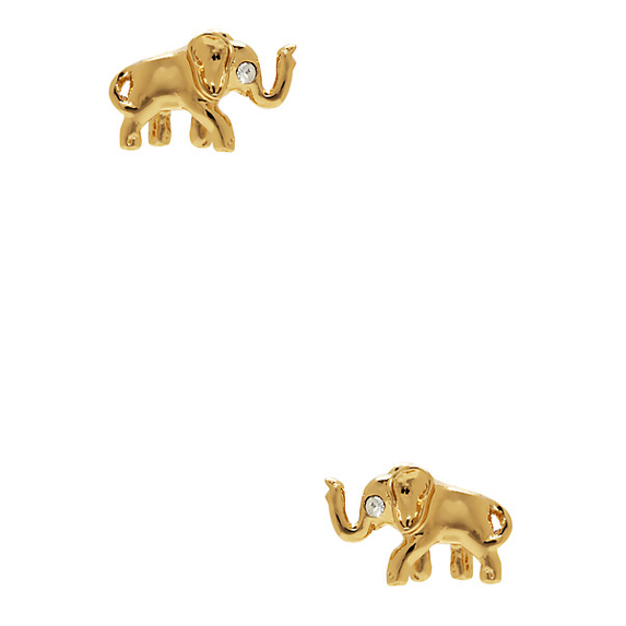 small gold elephant studs