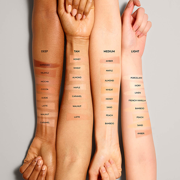 swatches fenty beauty match stix matte skinstick on light medium dark skin