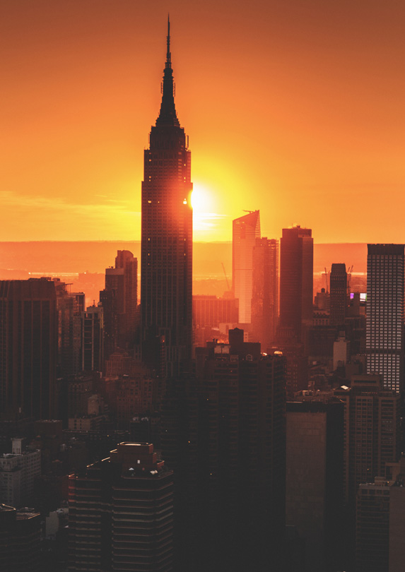 New York, New York in June