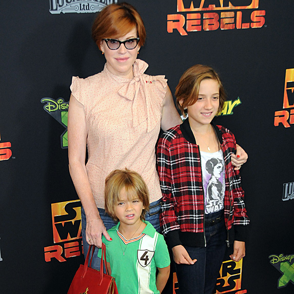 Molly Ringwald, son Roman and daughter Mathilda