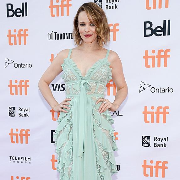 Rachel McAdams posing at the Toronto International Film Festival