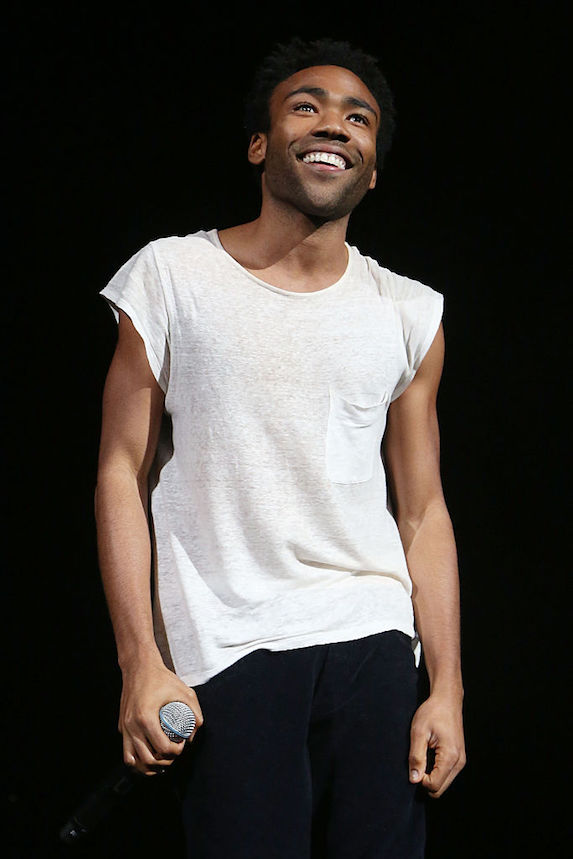 Donald Glover clean shaven