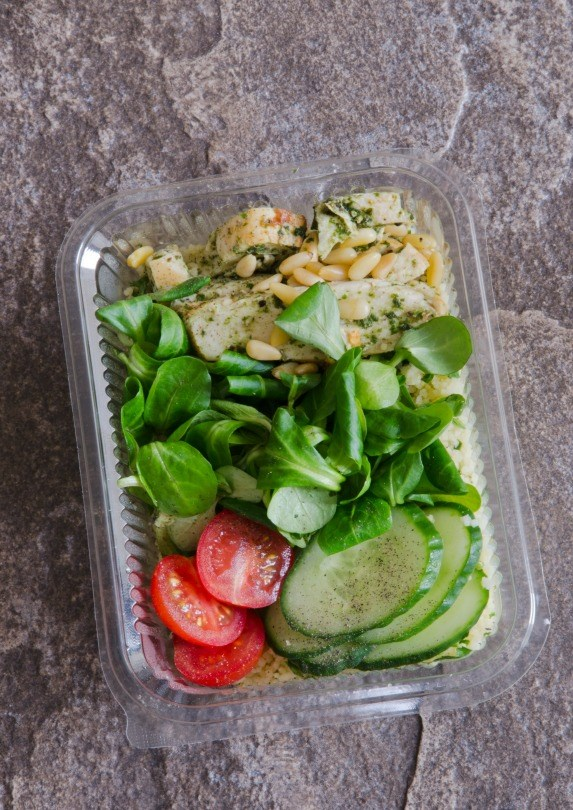 small healthy salad meal