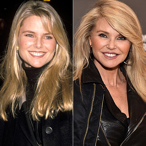 Christie Brinkley in 1987 and 2018
