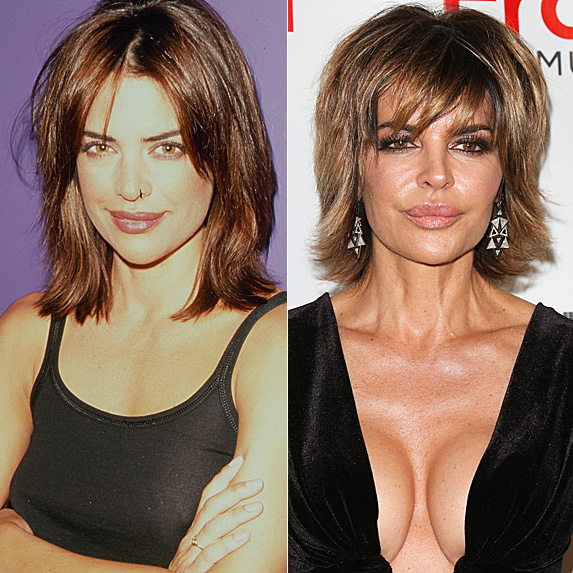 Lisa Rinna in 1990 and 2018