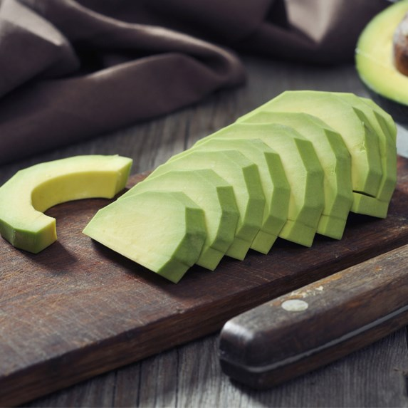 slices of fresh ripe avocado