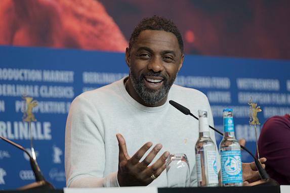 Idris Elba with scruff and beard