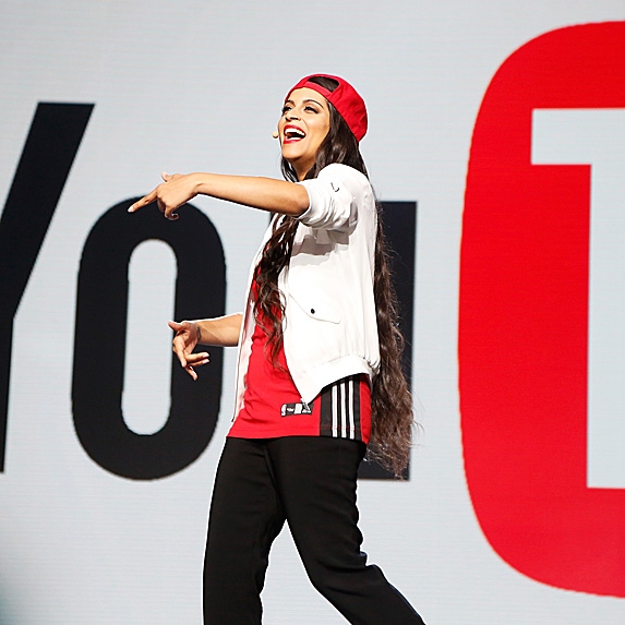 Lilly Singh at YouTube conference