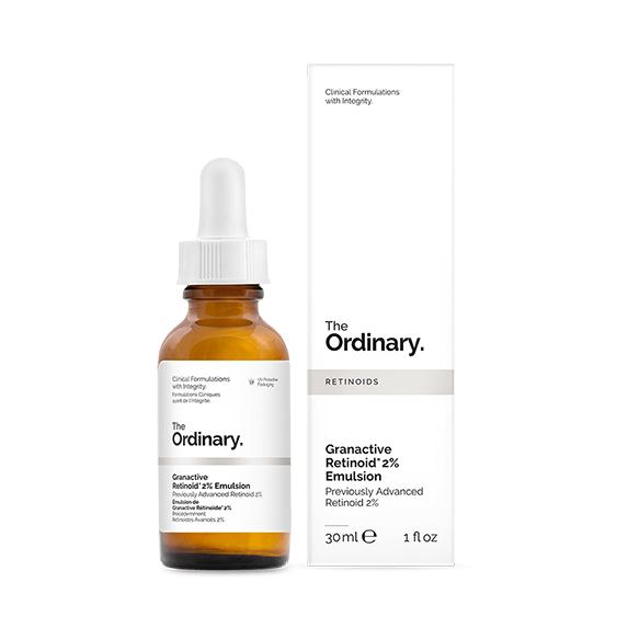 the ordinary retinoid emulsion serum on white background