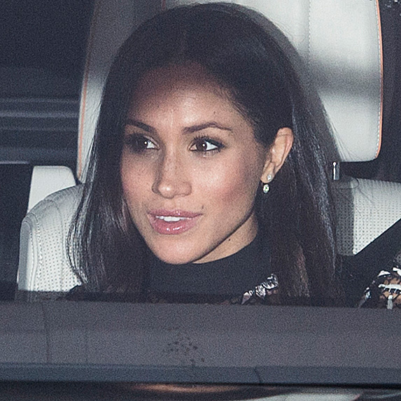 Meghan Markle in car