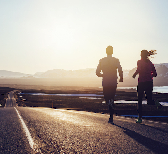 Couple running together