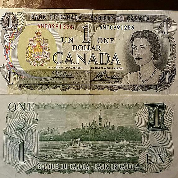 Canadian $1 bill