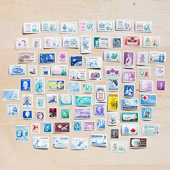 Lot of Canadian stamps