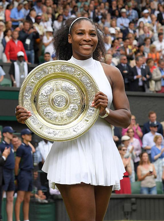 Serena's Williams' Evian bath