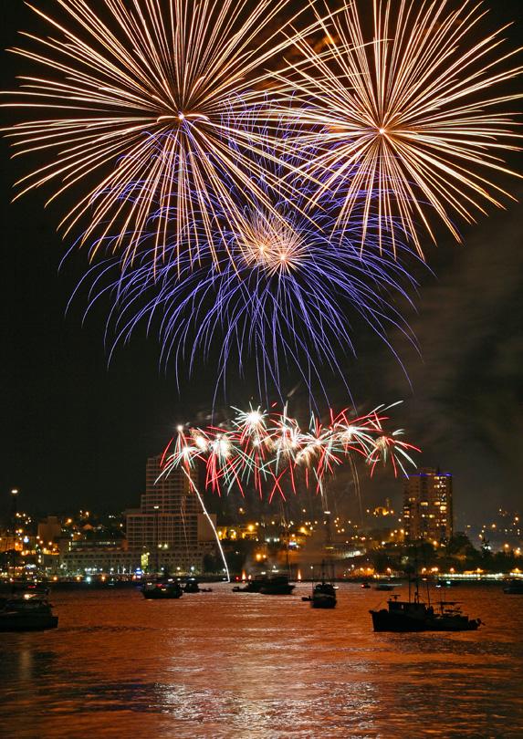 Fireworks over Nanaimo, British Columbia