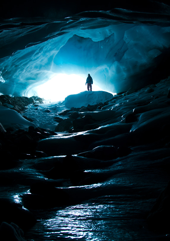 Ice cave in Whistler, British Columbia