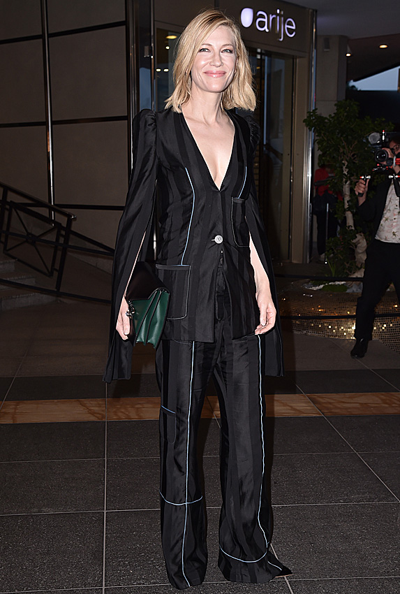 Cate Blanchett in a suit