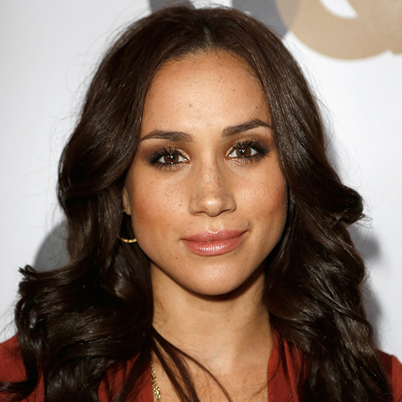 meghan markle wearing smoky bronze eyeshadow