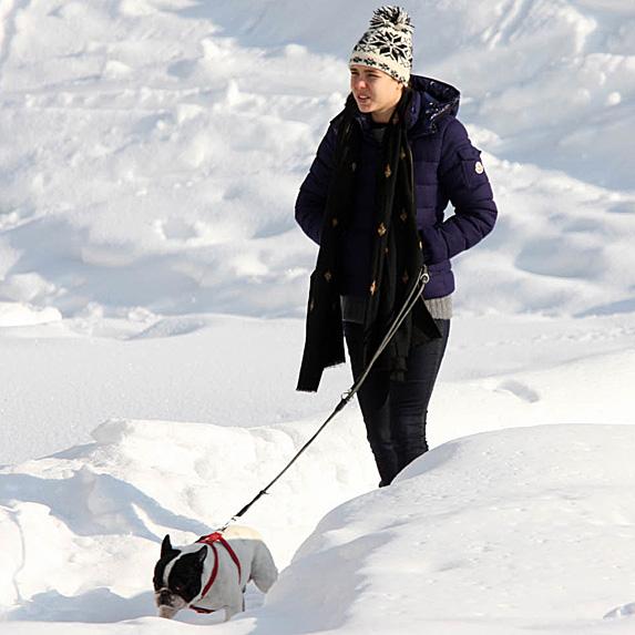 Charlotte Casiraghi walking dog