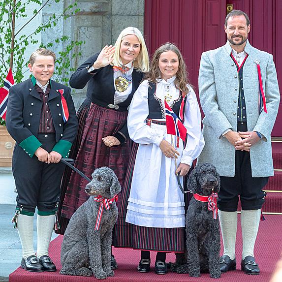 Princess Mette-Marit, Prince Haakon and kids, Prince Sverre Magnus and Princess Ingrid Alexandra