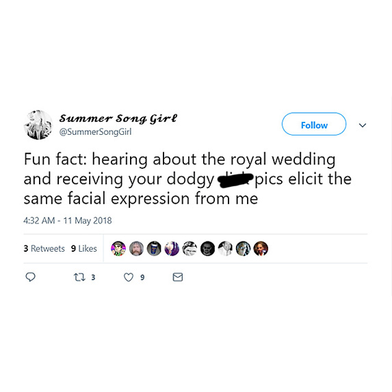 Over the royal wedding talk
