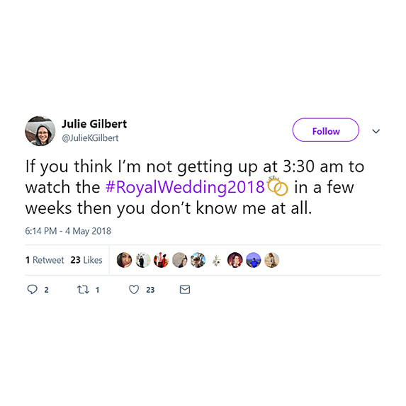 Totally getting up early to watch all the royal wedding coverage