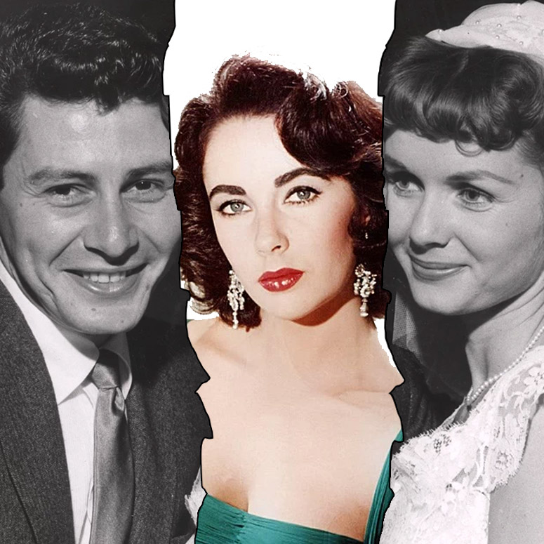Liz Taylor gets in the middle of Eddie Fisher and Debbie Reynolds