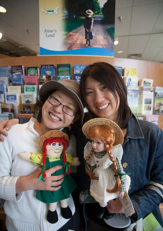 Tourists in Charlottetown, Prince Edward Island
