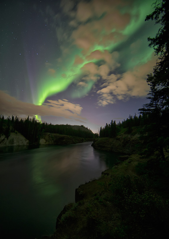 Northern Lights over Miles Canyon, Yukon