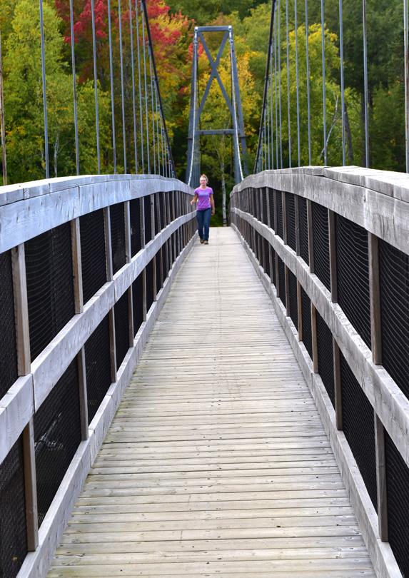Shogomoc River Pedestrian Bridge, Canterbury, New Brunswick