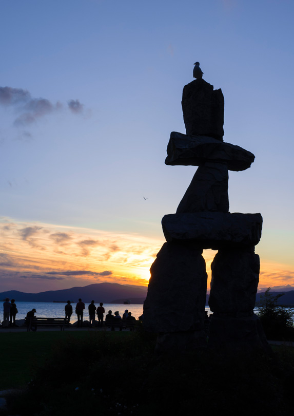 Sunset over Vancouver's English Bay