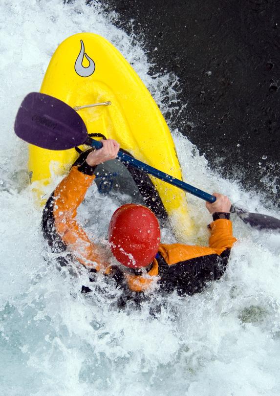 Riding the rapids in Whitehorse, Yukon