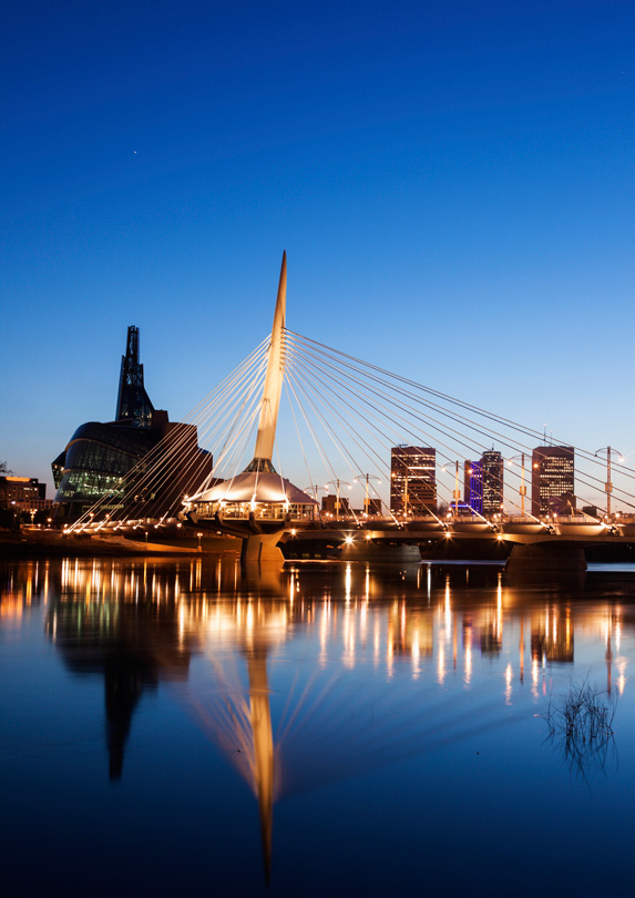 Winnipeg, Manitoba at night