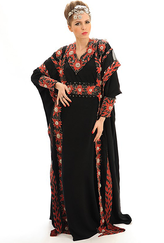 Black dress with red diamonds on it