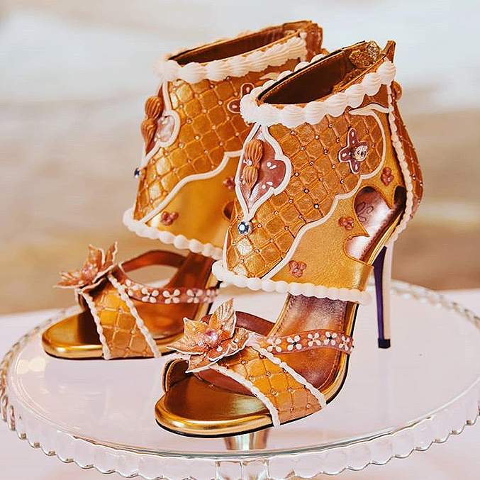 most expensive diamond and gold heels