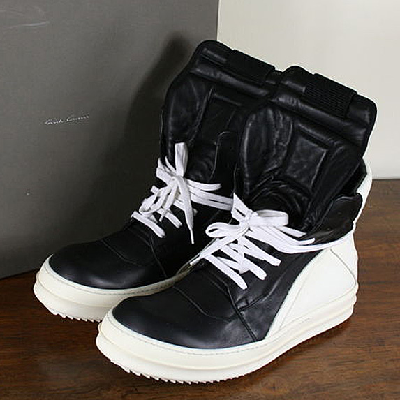 Black and white high-tops