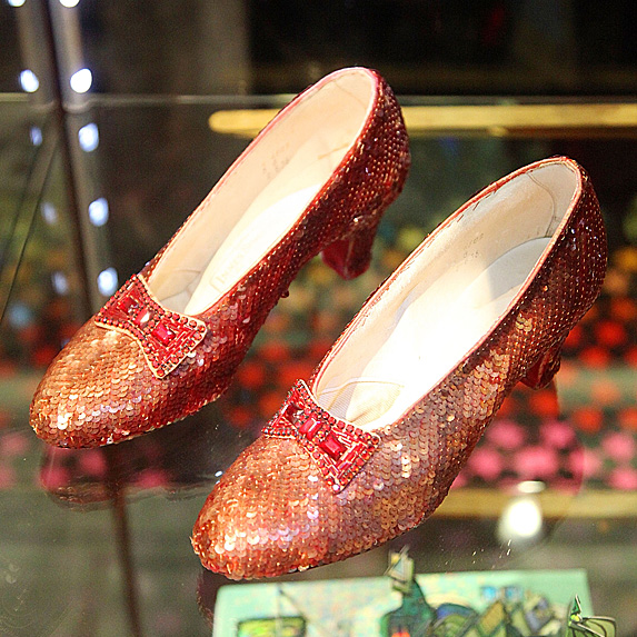 Ruby slippers from 'The Wizard of Oz' on display