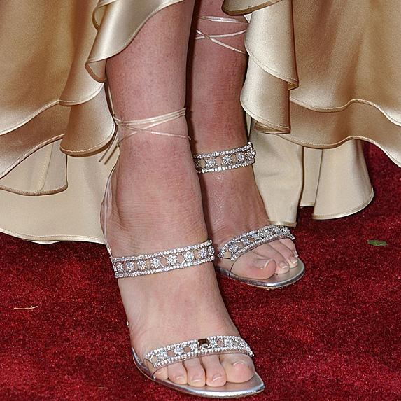 Strappy diamond heels