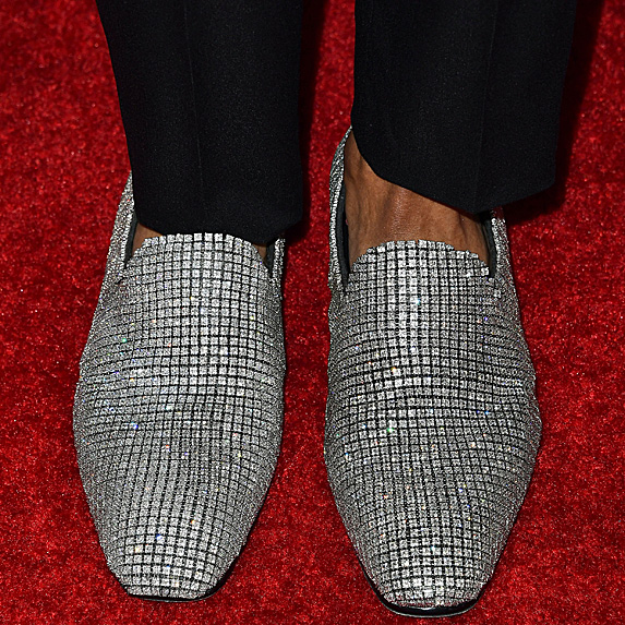 Diamond slip-on shoes