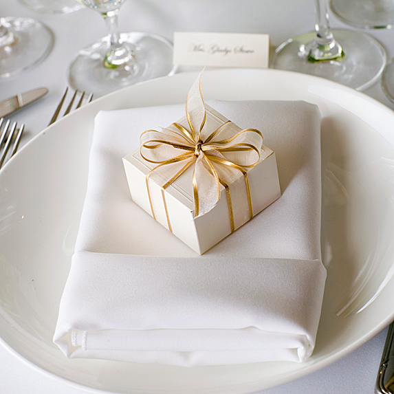 Table setting with name card