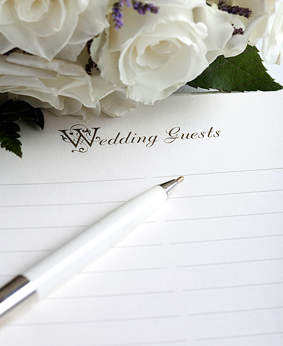Black list of wedding guests