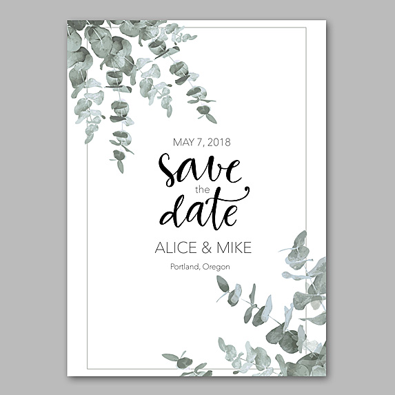 Mock-up of Save the Date card