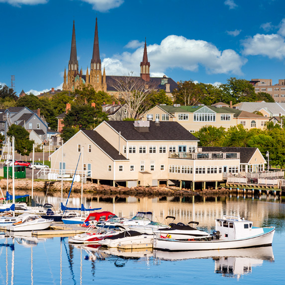 Harbour view of Charlottetown, Prince Edward Island
