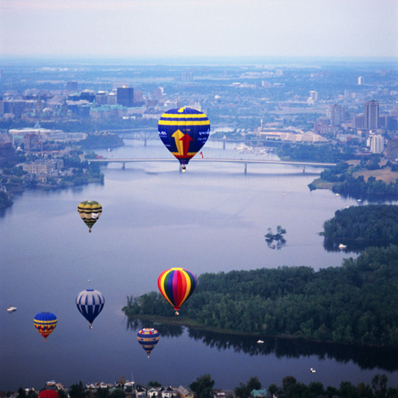 Balloons over Gatineau, Quebec