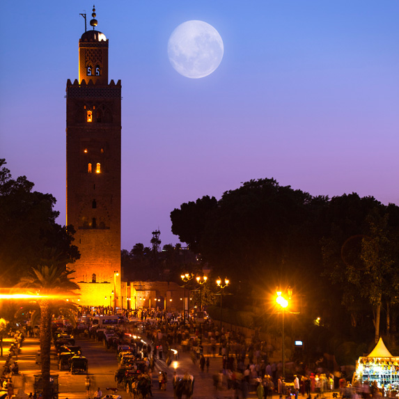Moon over Marrakesh, Morocco