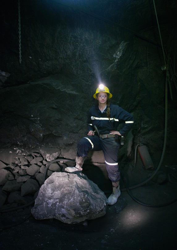Mining engineer underground