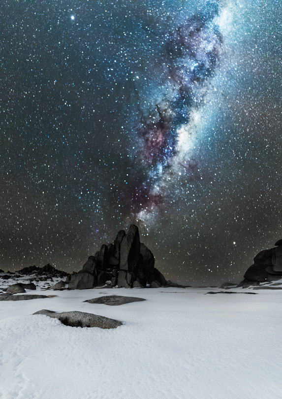Night sky over the Snowy Mountains, New South Wales