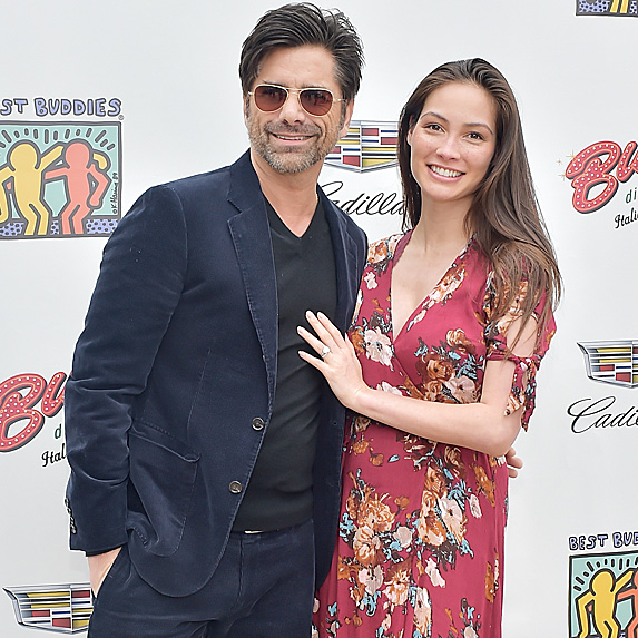John Stamos and Caitlin McHugh at Mother's Day brunch