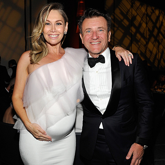 Kym Johnson and Robert Herjavec at event