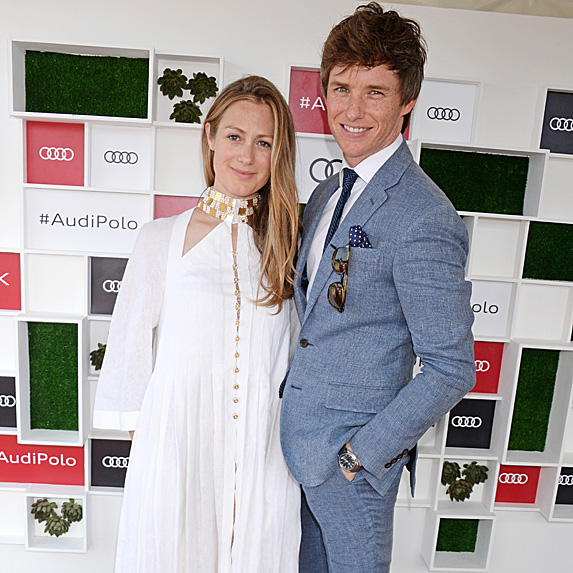 Hannah and Eddie Redmayne at polo match